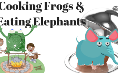 Cooking frogs and eating elephants
