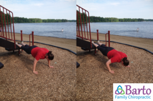 Pushups at the playground